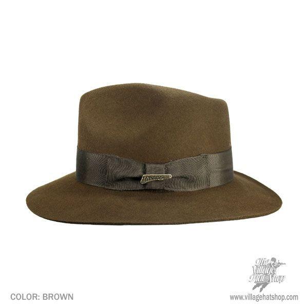 Indiana Jones Officially Licensed Wool Felt Fedora Hat All Fedoras 6621e024901