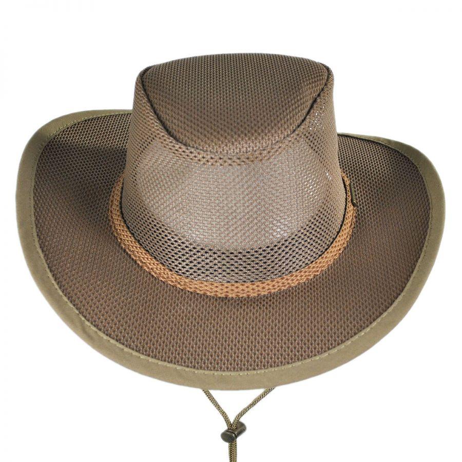 Stetson Mesh Covered Soaker Safari Hat Sun Protection 97536f23ed5b