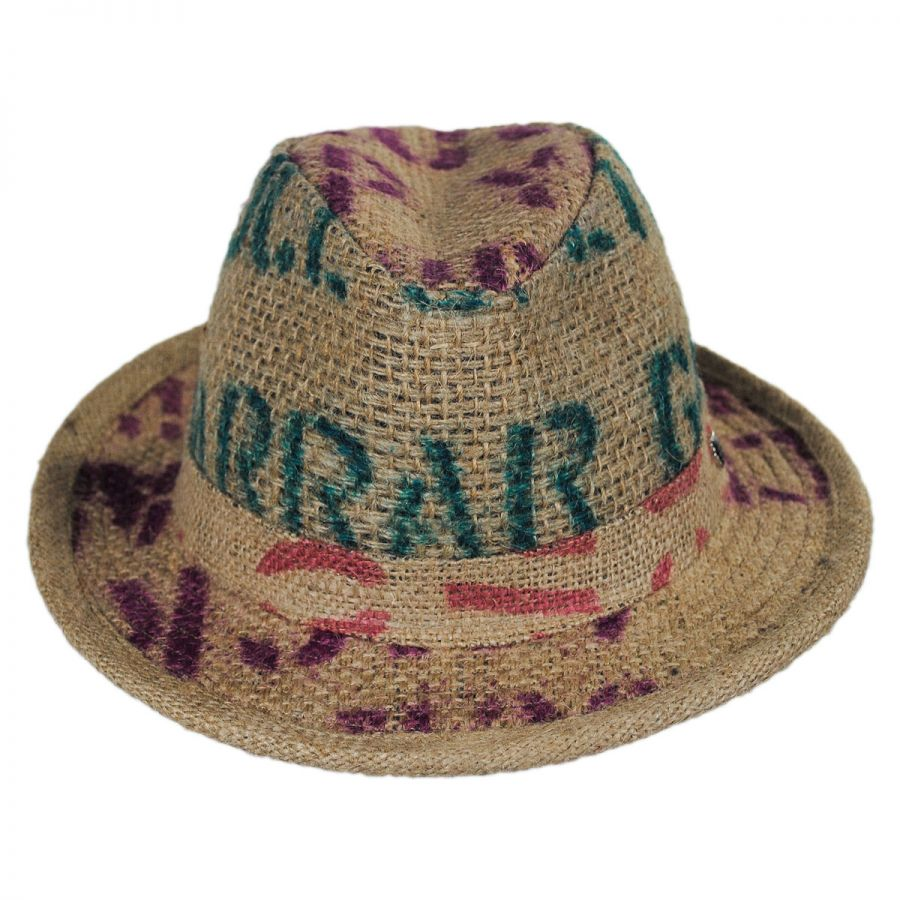 Hills Hats of New Zealand Havana Coffee Works Jute Mod Trilby Fedora ... 6ebf5a540da
