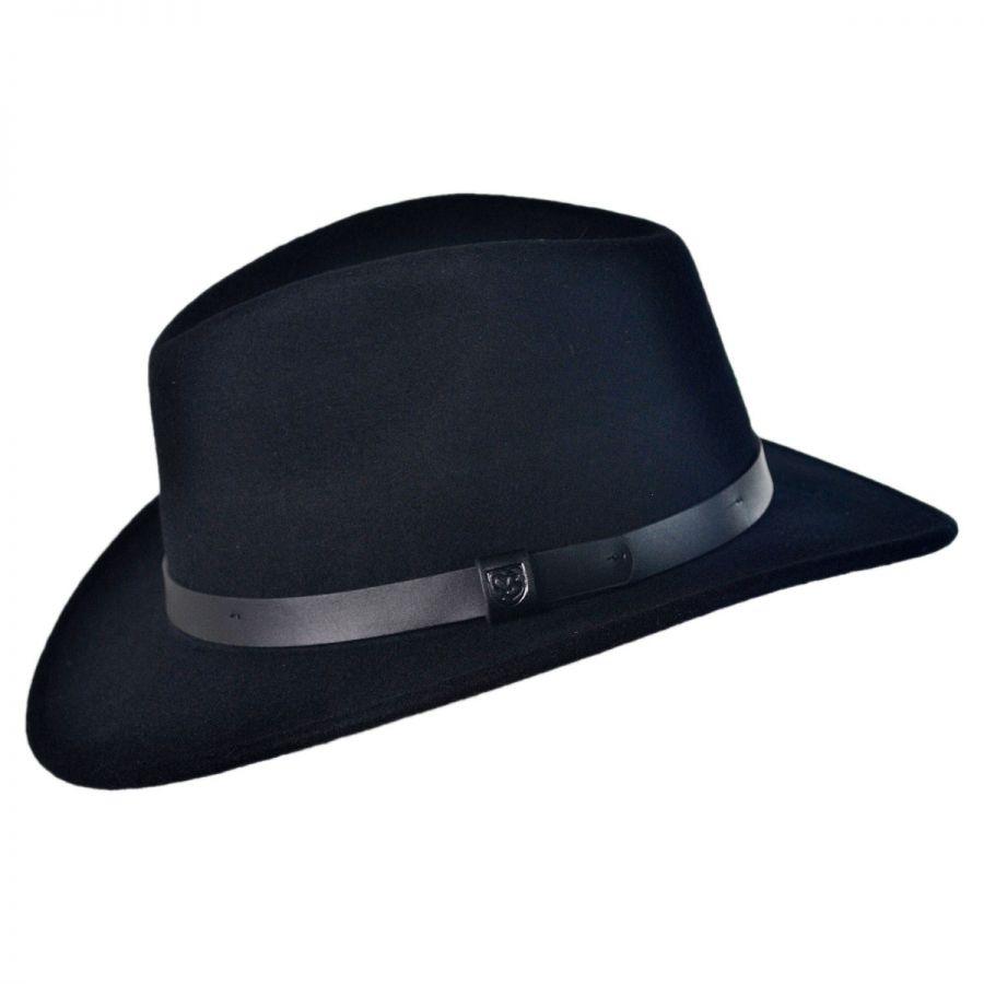 e899d83d1e5 Brixton Hats Messer Wool Felt Fedora Hat All Fedoras