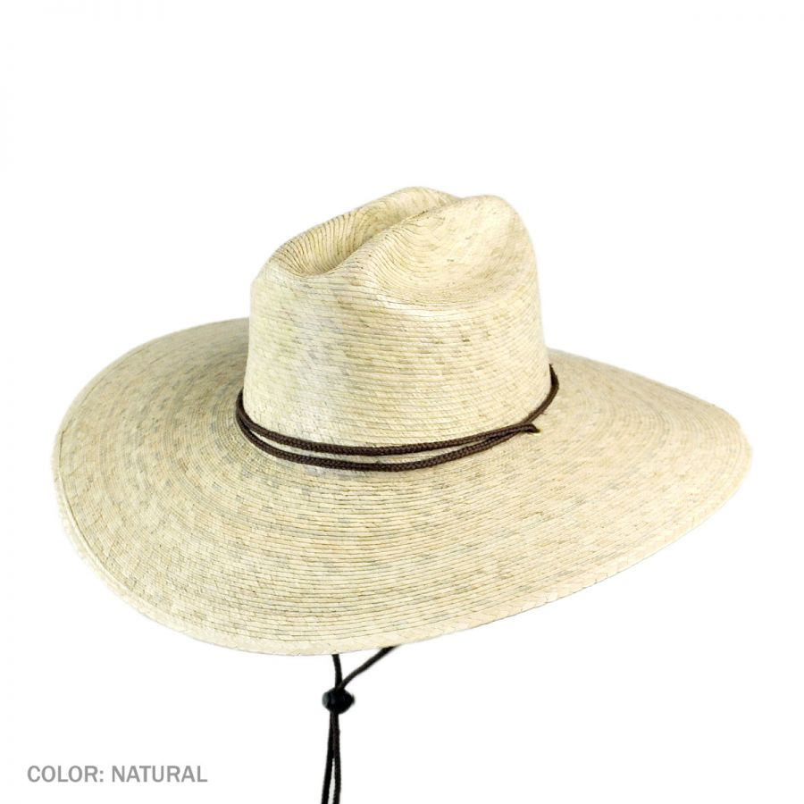 1f1a6a45 Tula Hats Lifeguard Palm Straw Hat Sun Protection