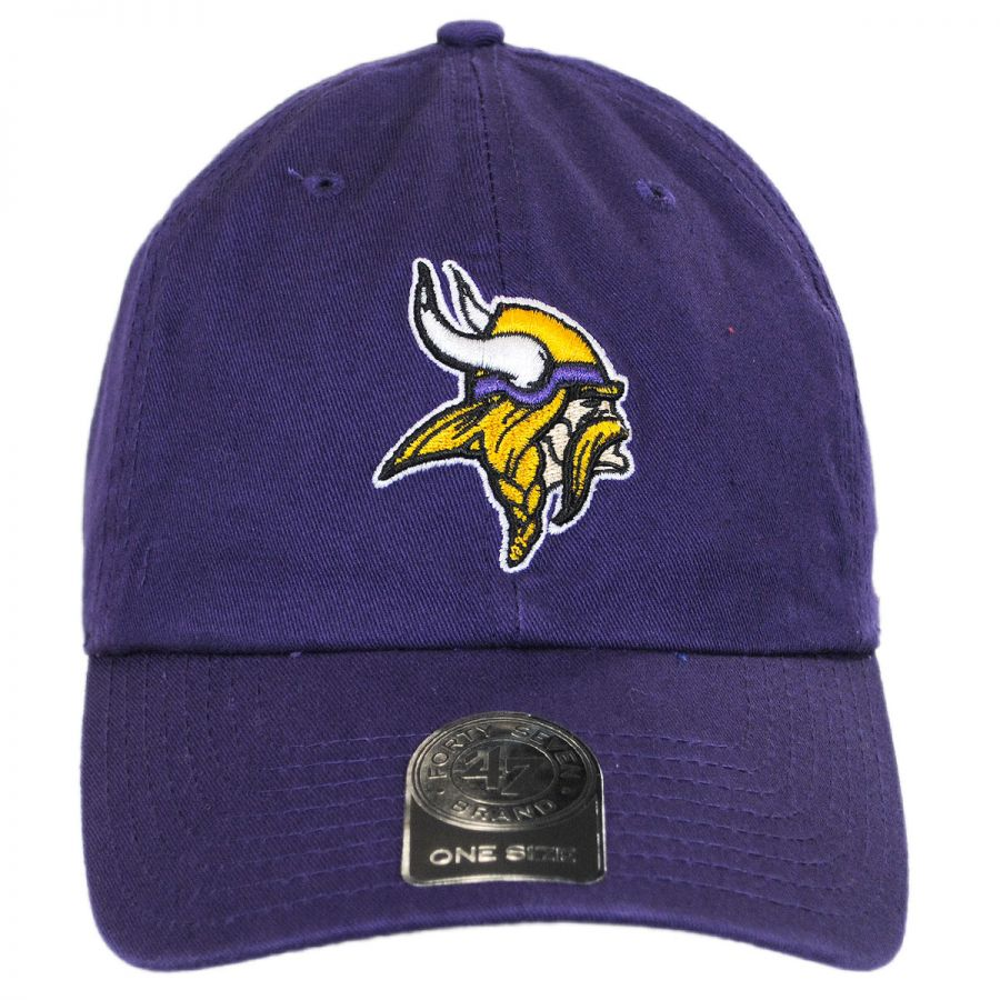 a0400c089 47 Brand Minnesota Vikings NFL Clean Up Strapback Baseball Cap Dad ...