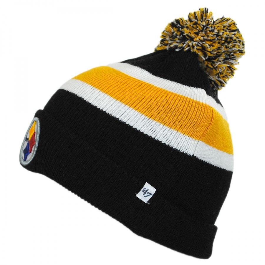 Knitting Pattern For Nfl Hats : 47 Brand Pittsburgh Steelers NFL Breakaway Knit Beanie Hat NFL Football Caps