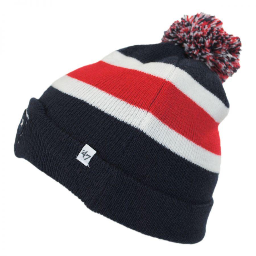 Knitting Pattern For Nfl Hats : 47 Brand New England Patriots NFL Breakaway Knit Beanie Hat NFL Football Caps