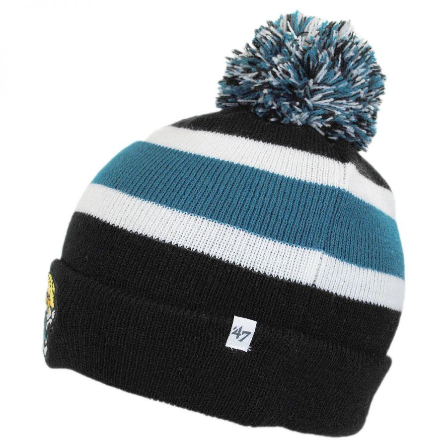 Knitting Pattern For Nfl Hats : 47 Brand Jacksonville Jaguars NFL Breakaway Knit Beanie Hat NFL Football Caps