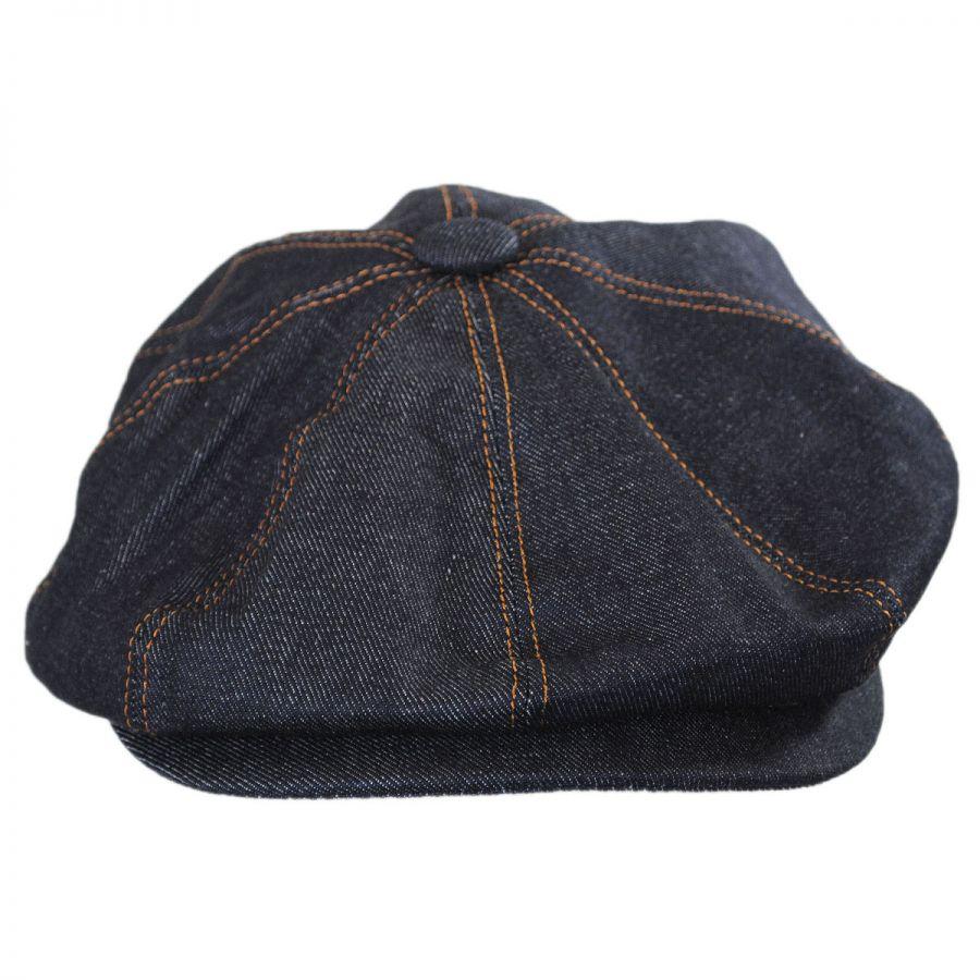 256bd3593f0 Jaxon Hats Denim Cotton Newsboy Cap Newsboy Caps