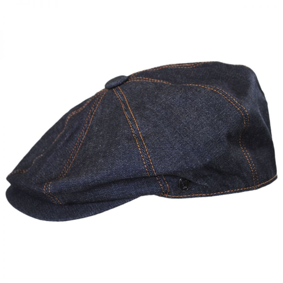 Jaxon Hats Denim Cotton Newsboy Cap Newsboy Caps 2668d4816d45