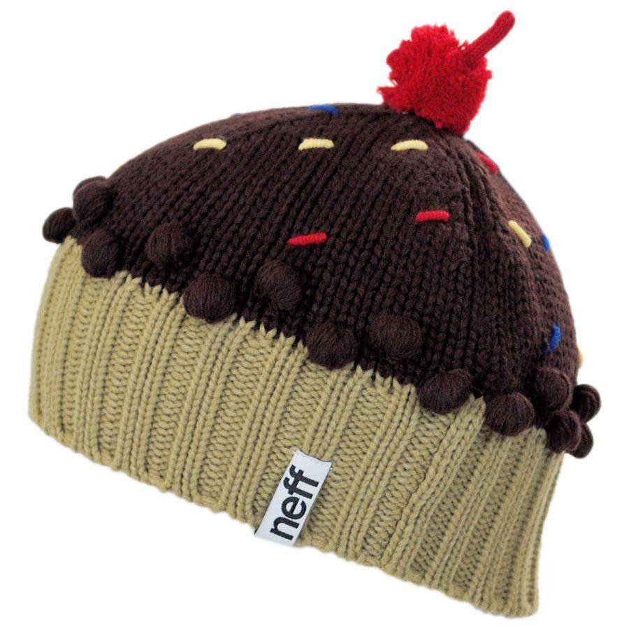 f2efa00e39d Neff Cupcake Knit Beanie Hat Beanies