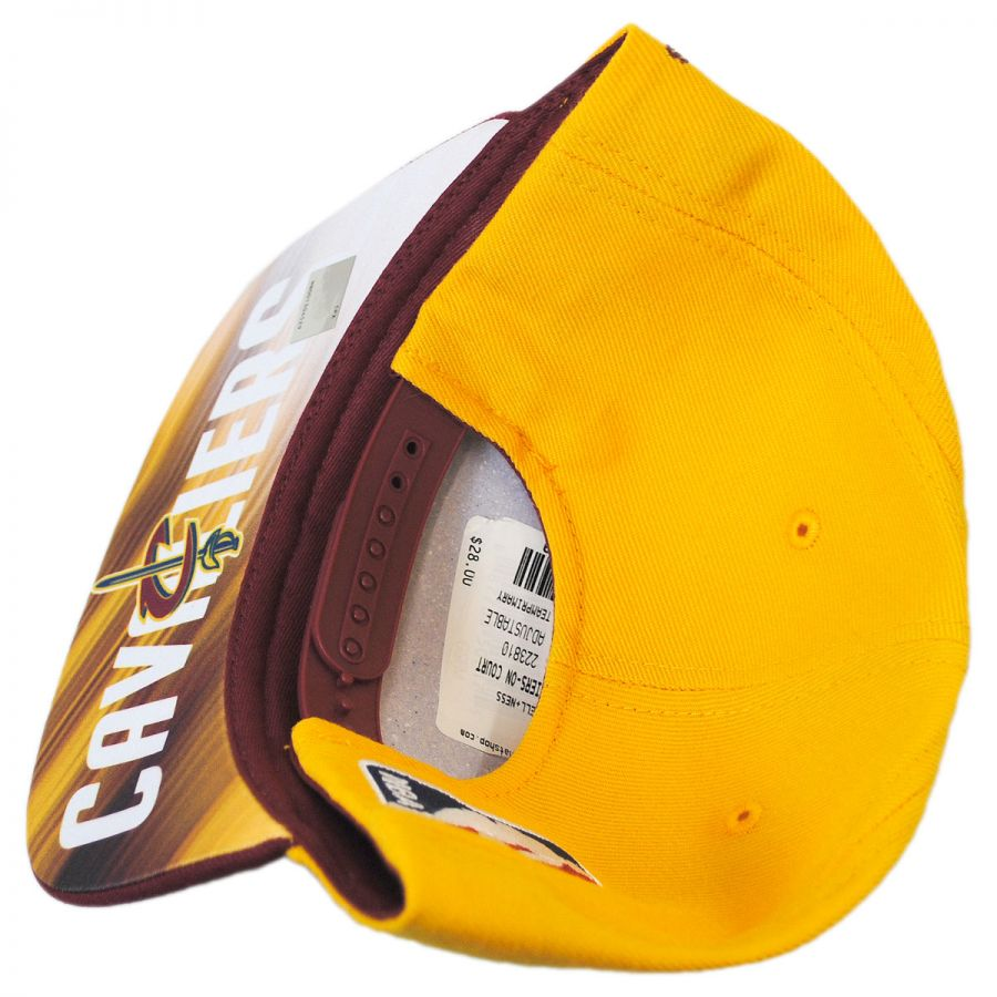 514fd0b5f9e Cleveland Cavaliers NBA adidas On-Court Snapback Baseball Cap in · Mitchell    Ness