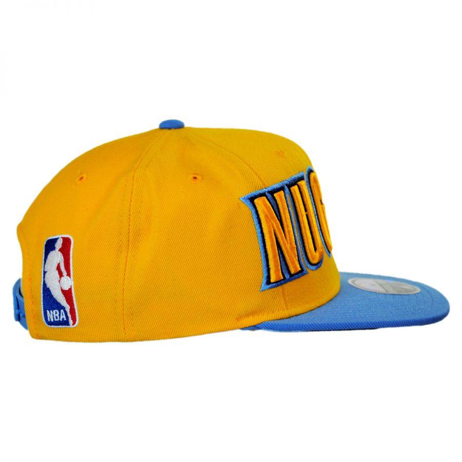 promo code 8dd1c 5bcd9 Denver Nuggets NBA adidas On-Court Snapback Baseball Cap in