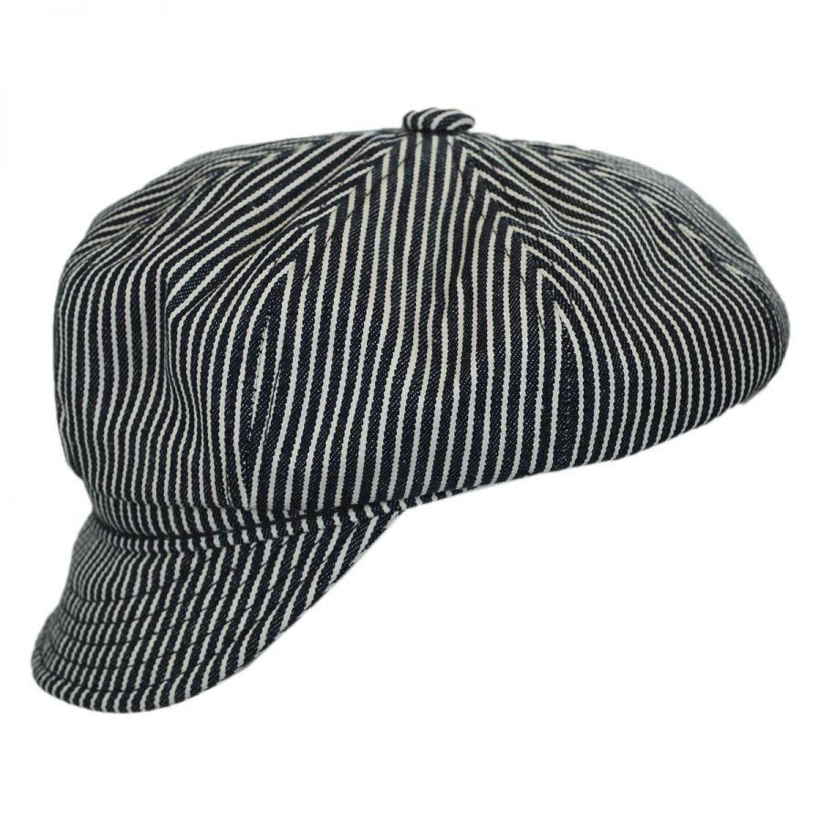 Engineer Striped Cotton Newsboy Cap in · Engineer Striped Cotton Newsboy Cap  in. New York Hat Company 8fbb7f5217e2