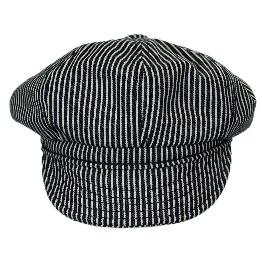 New York Hat Company Engineer Striped Cotton Newsboy Cap Newsboy Caps 77603d0ccaae