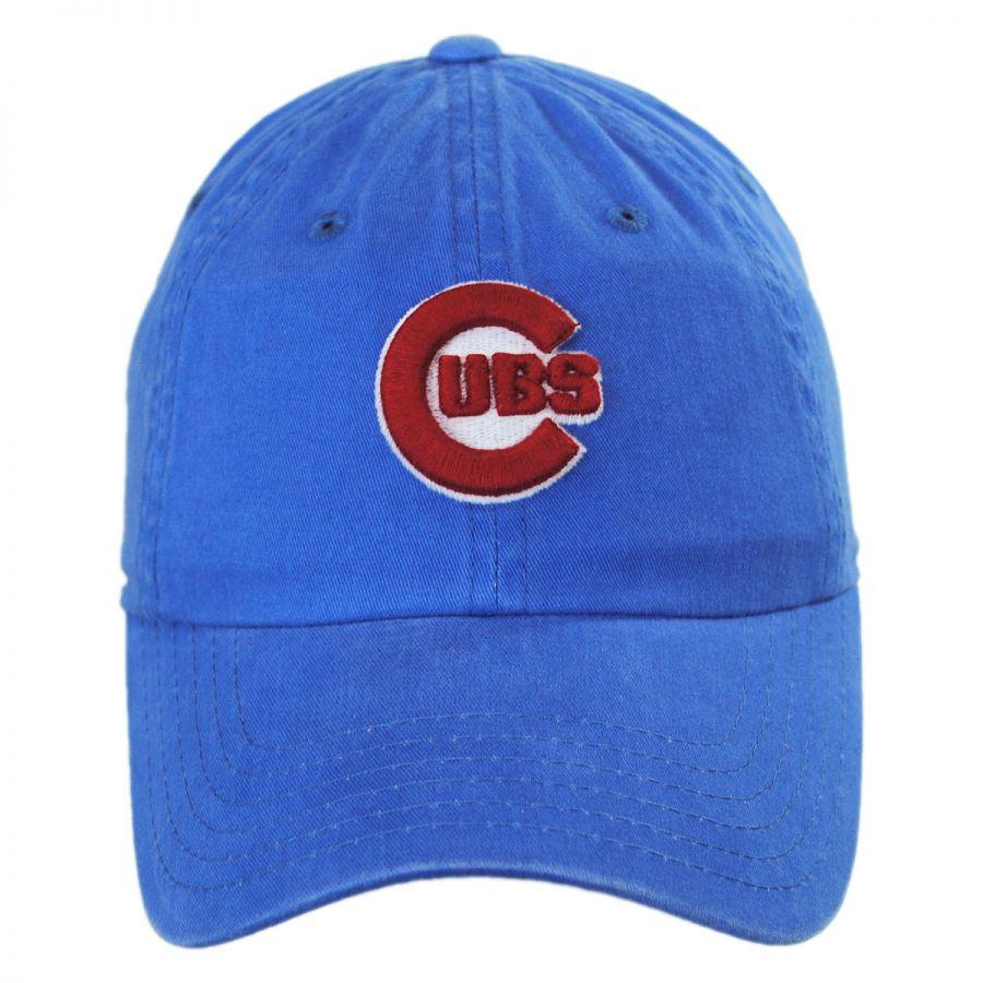 American Needle Chicago Cubs MLB Raglan Strapback Baseball Cap Dad ... 9cbb4e73e44