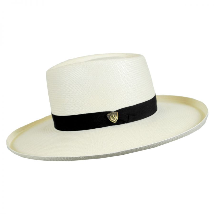 Dobbs San Juan Shantung Straw Planter Hat Straw Hats on stove top hat, 3 musketeers hat, art hat,
