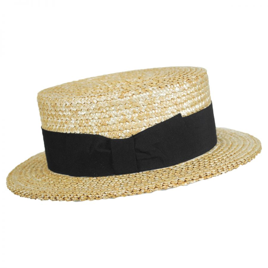 Italian Bands: Stetson Sennett Italian Skimmer With Solid Hat Band Straw Hats