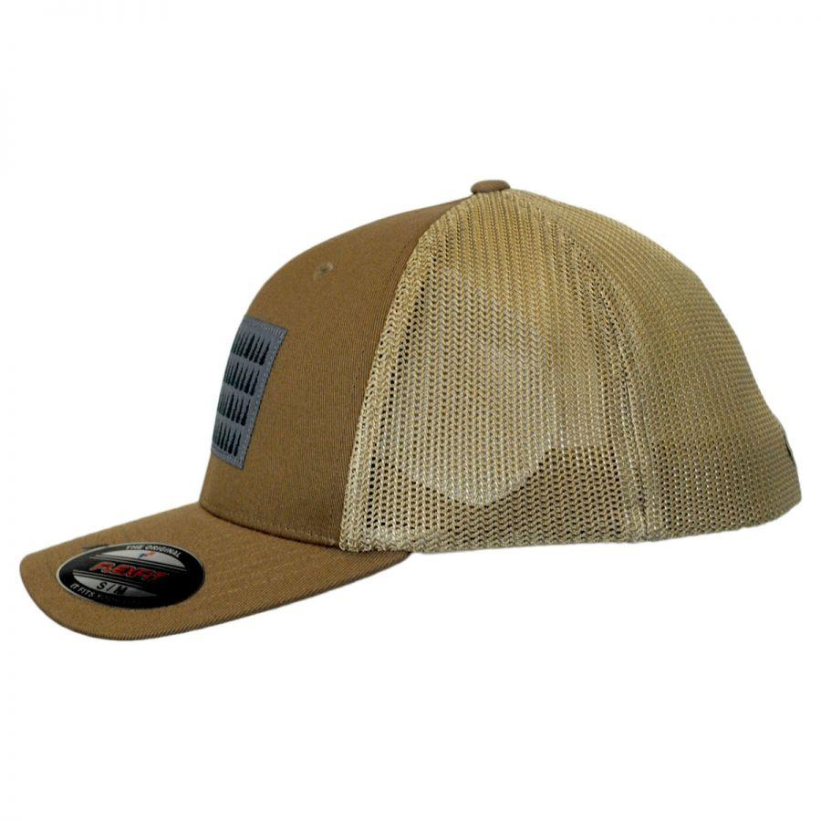 baa42af1f75 Columbia Sportswear Tree Flag Mesh Flexfit Fitted Baseball Cap All ...
