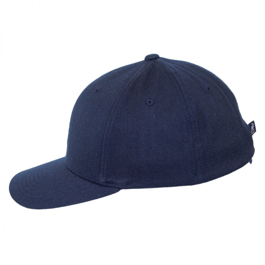 Kangol logo wool flexfit fitted baseball cap fitted for Storing baseball hats