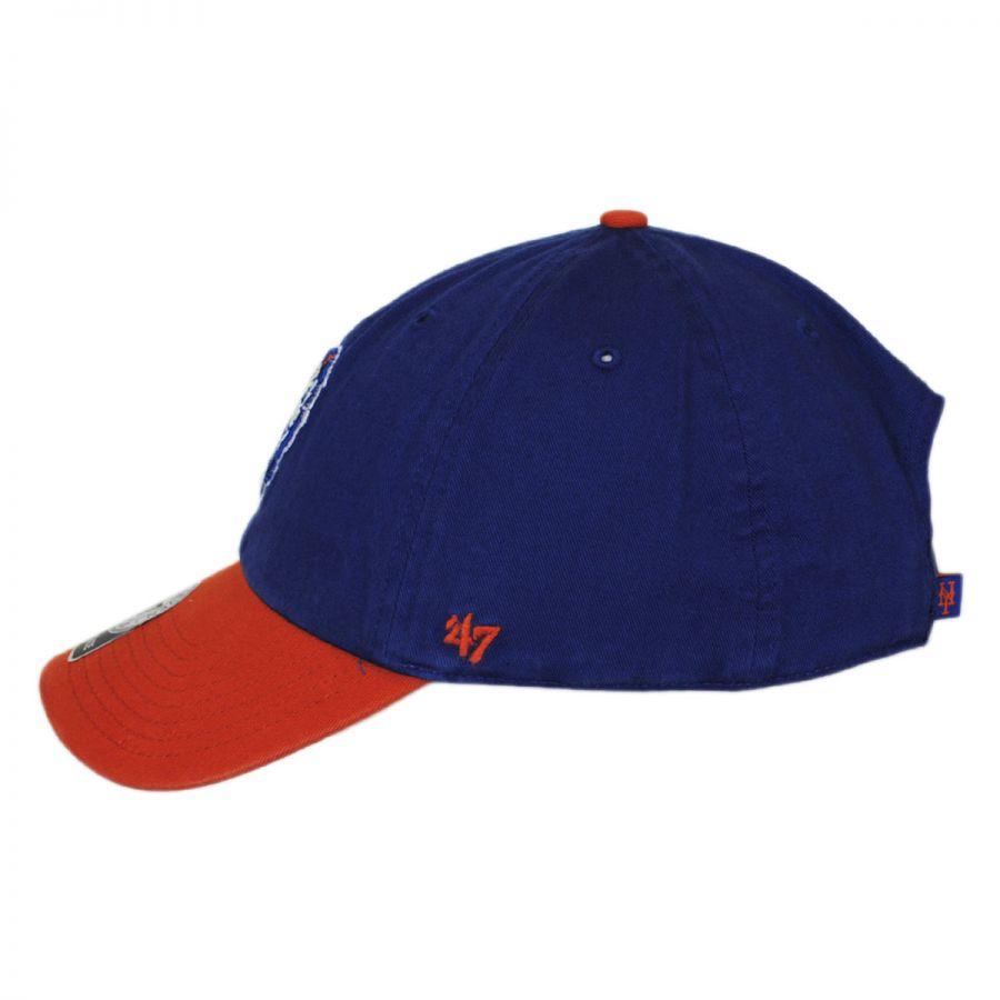 47 brand new york mets mlb clean up strapback baseball cap