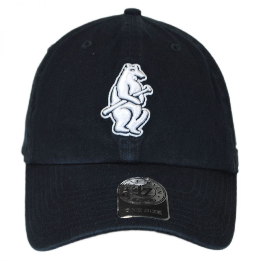 47 brand chicago cubs cooperstown mlb clean up strapback