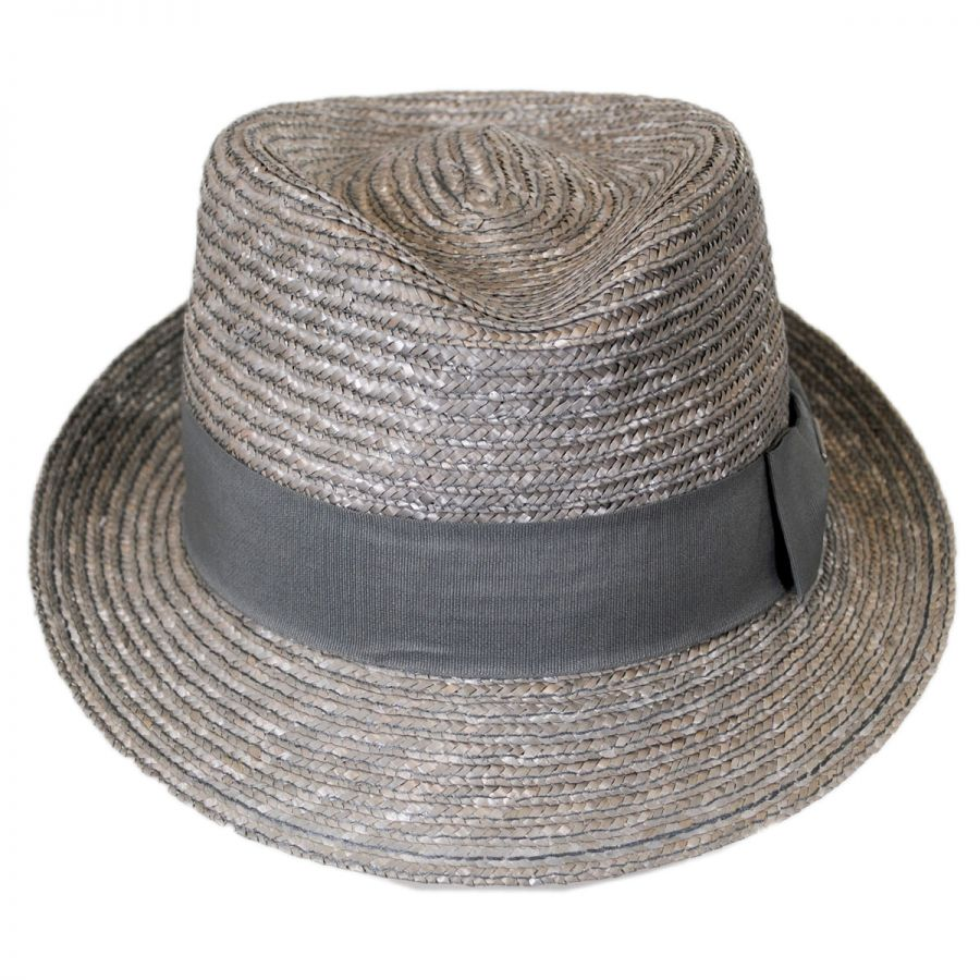 9848895f Kangol Wheat Braid Straw Arnold Trilby Fedora Hat Straw Fedoras