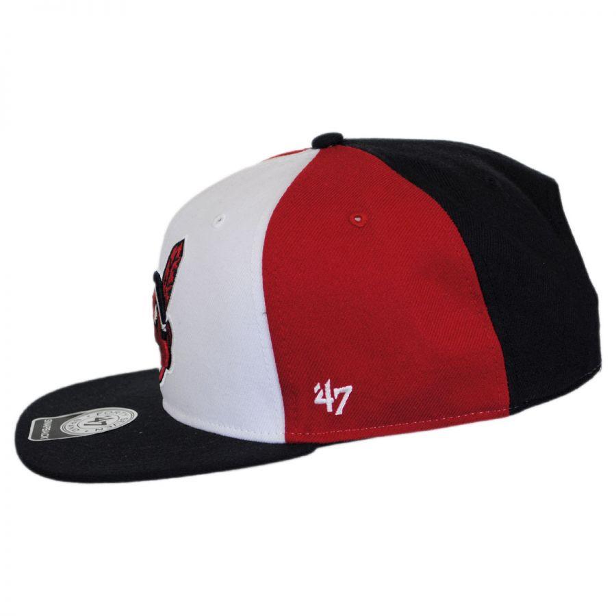 47 brand cleveland indians mlb amble snapback baseball cap