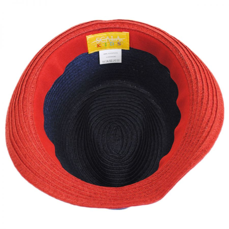 0aee96492 Kid's Freedom Toyo Straw Fedora Hat