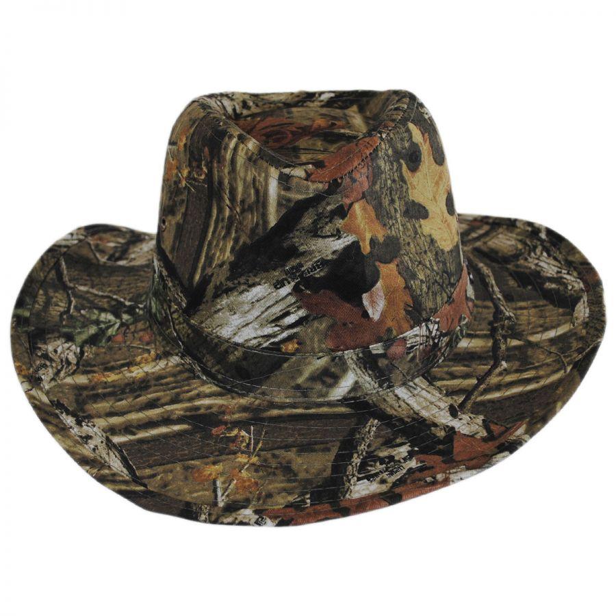Mossy Oak Infinity Break Up Camo Cotton Outback Hat Sun