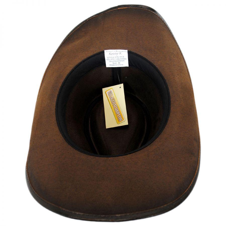 Kenny K Faux Leather Western Hat Western Hats 81d45d85e93