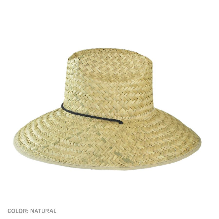 4a742b43d9d40 Dorfman Pacific Company Palm Leaf Straw Lifeguard Hat Straw Hats