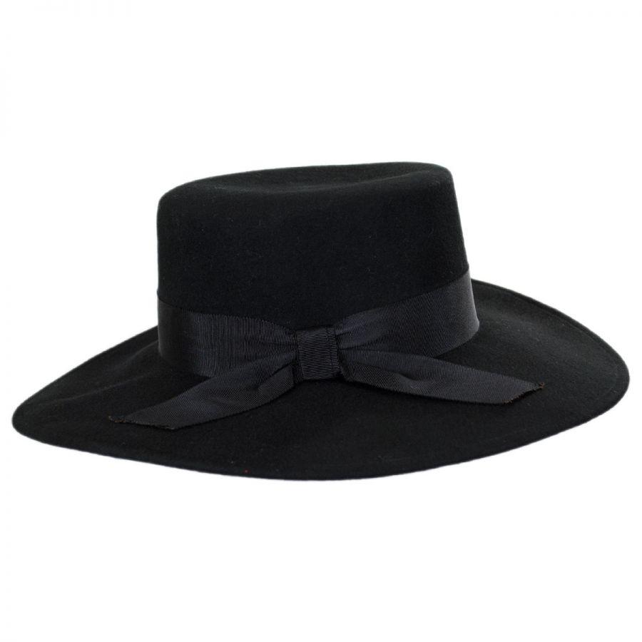 jeanne simmons wool felt wide brim bolero hat casual hats