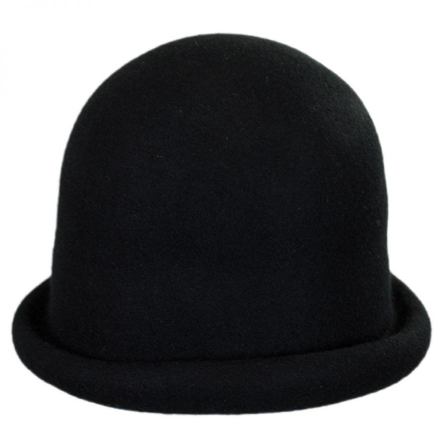 Jeanne Simmons Wool Felt Cloche Hat Cloche & Flapper Hats