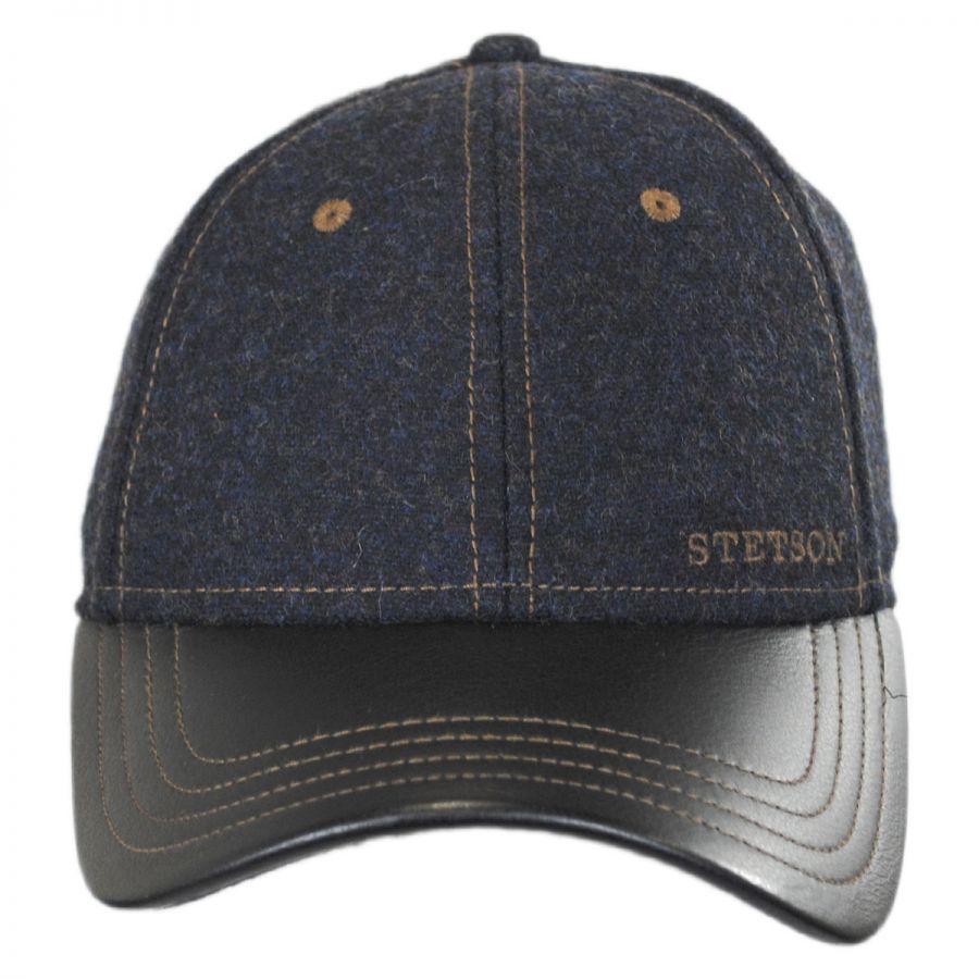 stetson wool leather baseball cap blank baseball caps