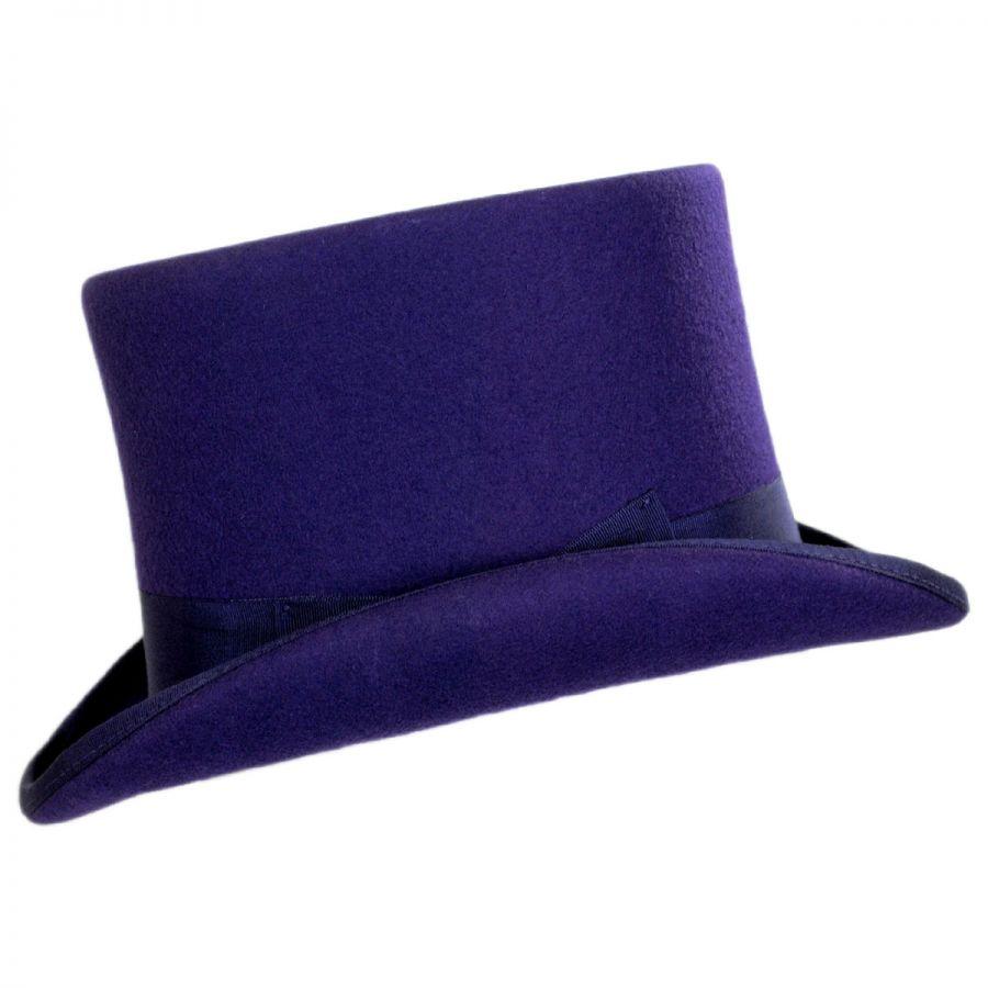 2b5efe07849 Scala Wool Felt Top Hat Top Hats