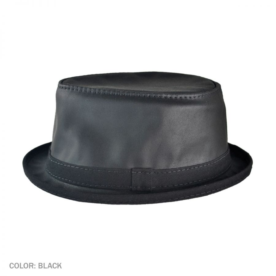 Head  N Home Soho Crushable Leather Trilby Fedora Hat Leather Fedoras a65d36c1e6