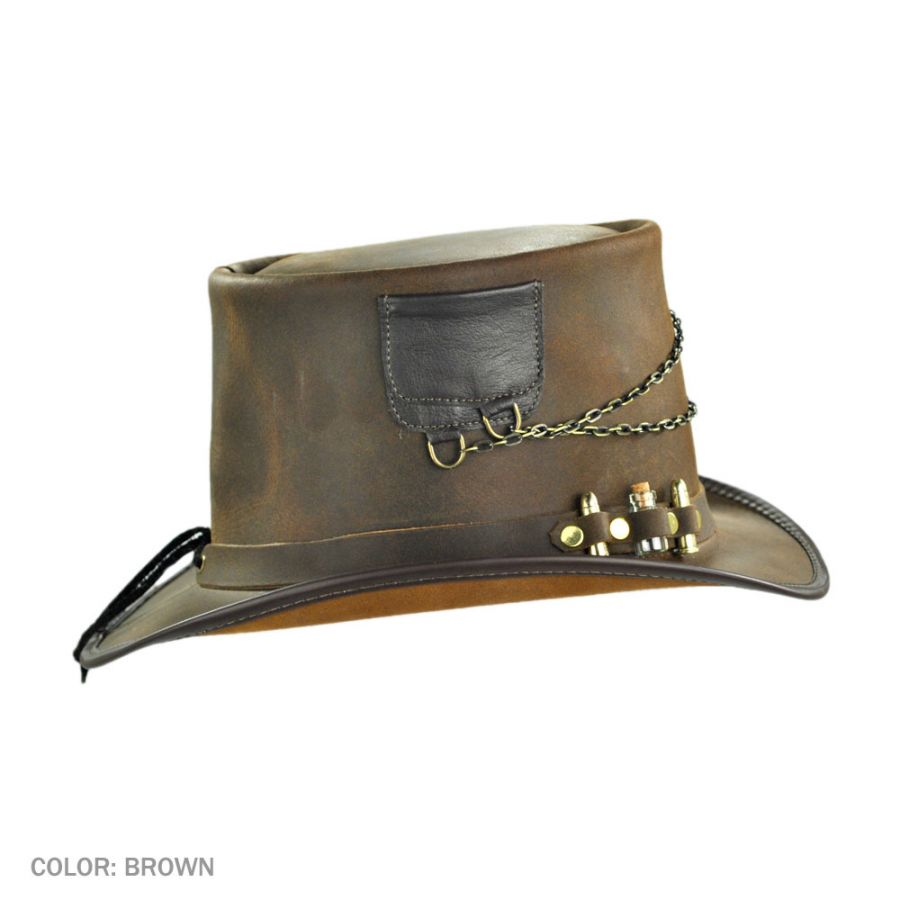 afdf940b Head 'N Home Trinket Ammo Band Leather Top Hat Top Hats