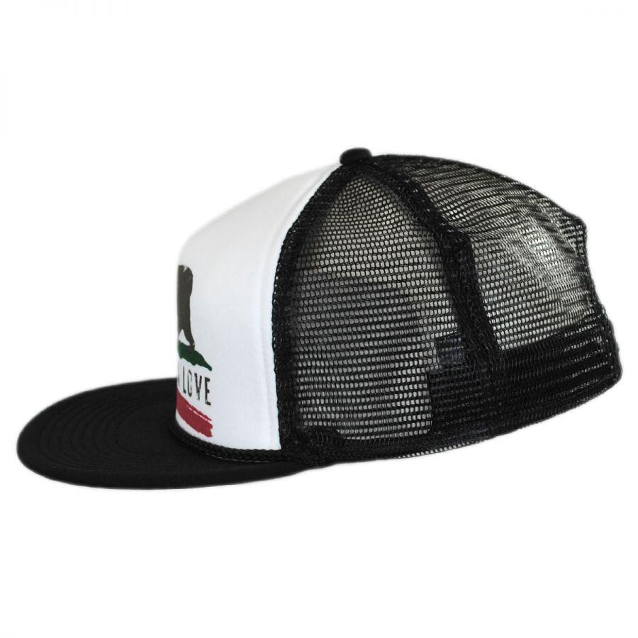Brooklyn Hat Co California Love Flat Bill Trucker Snapback Baseball ... cc25de9c83a