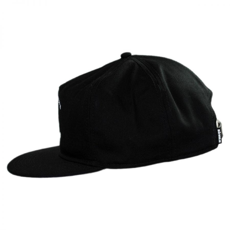 hat co dead anchor leather strapback baseball cap
