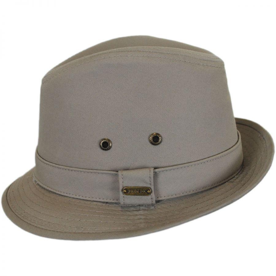 Stetson Cotton Rain Trilby Fedora Hat Rain Hats fb5224257bd