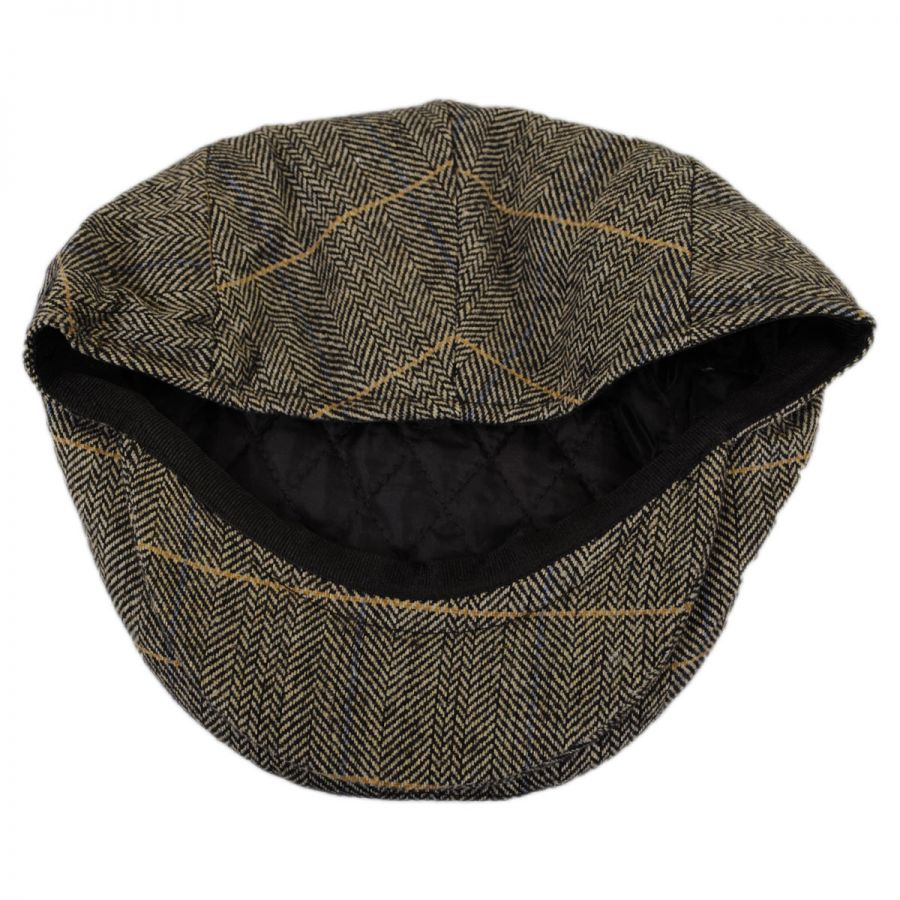Home Mens Hats Flat Caps Ivy Caps Croydon Herringbone Plaid Wool