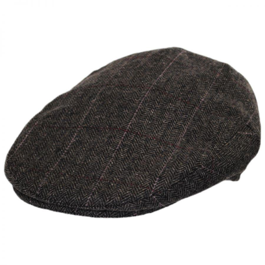 2ffac0d4e34c9 B2B Jaxon Euston Herringbone Plaid Wool Blend Ivy Cap Flat Caps