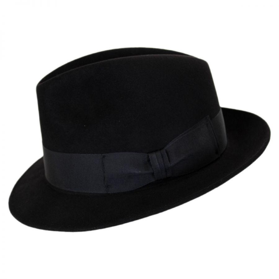 8546216e2a9d38 Stefeno Ultimo Beaver Fur Felt Fedora Hat Fur Felt
