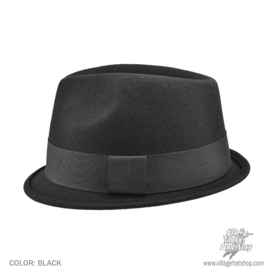 Jaxon Hats Dekker Crushable Wool Felt Trilby Fedora Hat Crushable c9412bcf88e