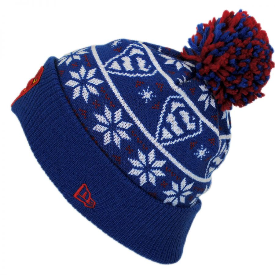 360513350af New Era DC Comics Superman Sweater Knit Beanie Hat Animation ...