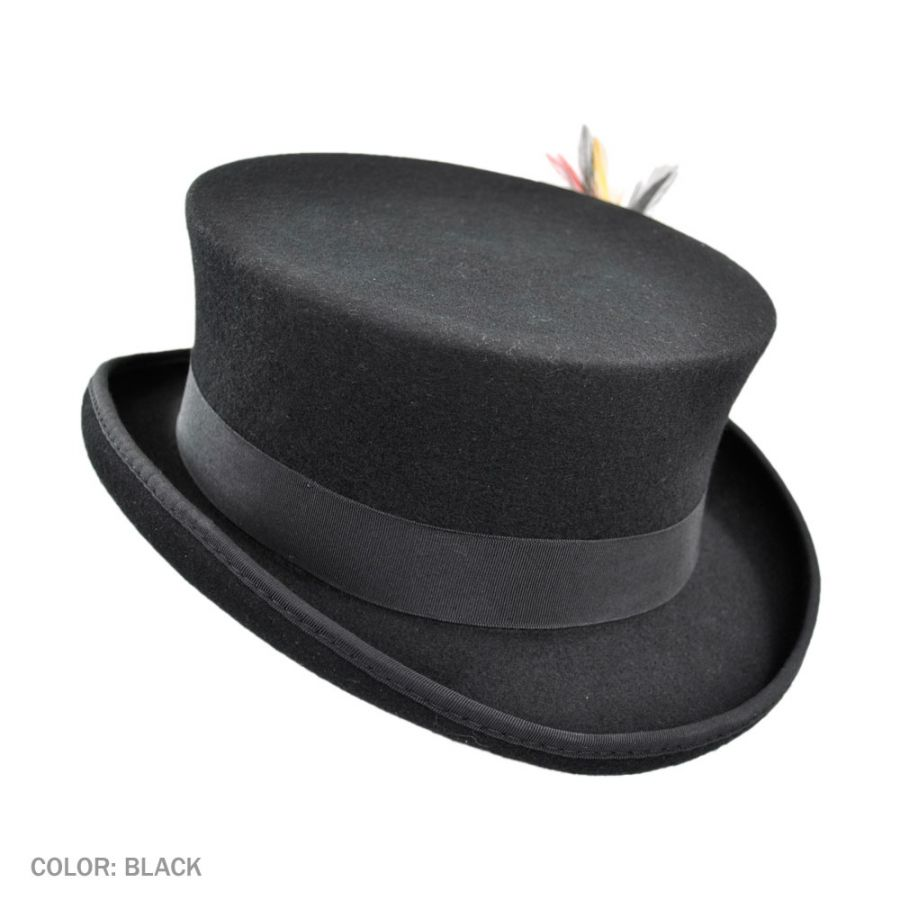 Jaxon Hats Deadman Wool Felt Top Hat Top Hats 6e1b530ad881