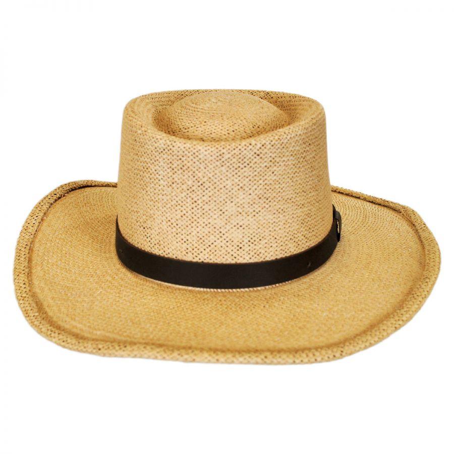 Gambler Straw Hat: Pantropic Twisted Panama Straw Gambler Hat Panama Hats