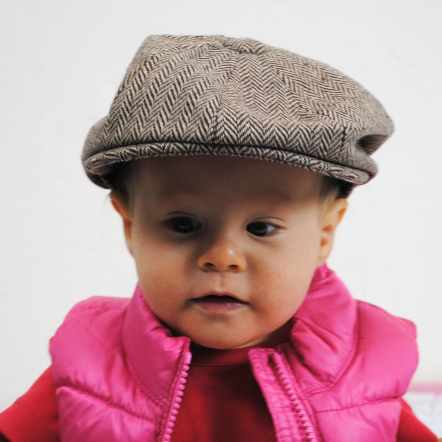Jaxon Hats Baby Herringbone Wool Blend Newsboy Cap Baby and Toddlers a48bc8e7e49