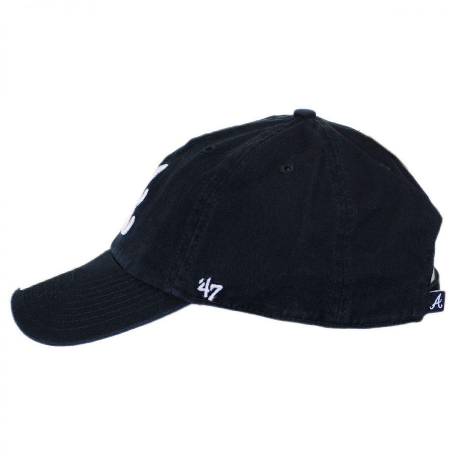 403a3f70 ... discount code for atlanta braves mlb clean up strapback baseball cap  dad hat in 9de6c cb4a9