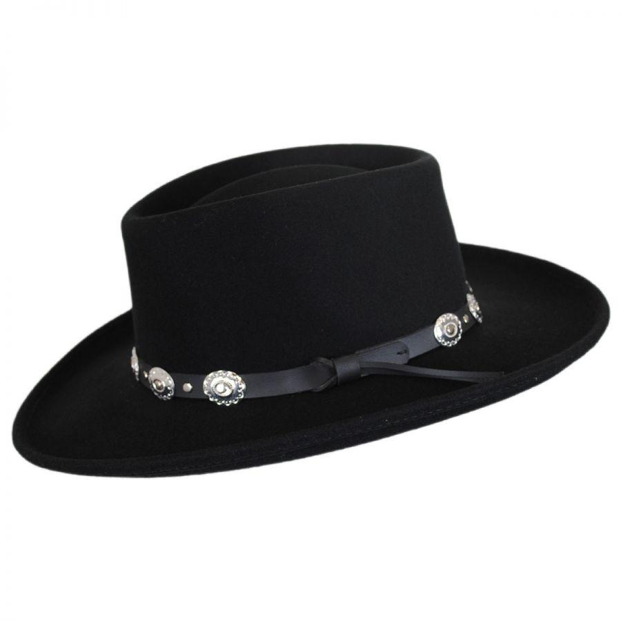 be5e891d89a091 Eddy Bros Western Wool Felt Gambler Hat Crushable