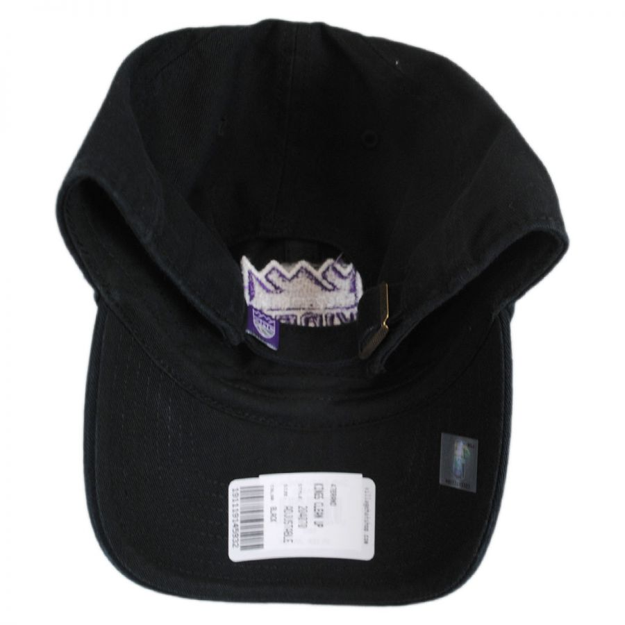 47 Brand Sacramento Kings NBA Clean Up Strapback Baseball Cap Dad ... 7a84136fe7f