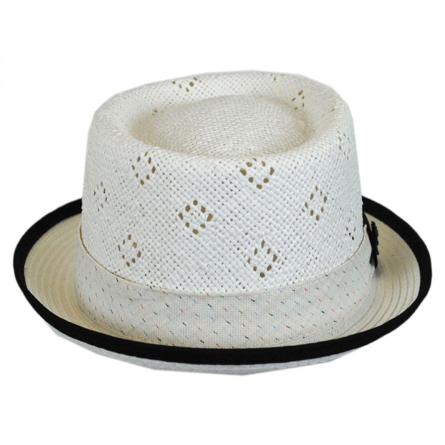 Stacy Adams Vent Crown Toyo Straw Pork Pie Hat Pork Pie Hats e1a9e7d1bf6